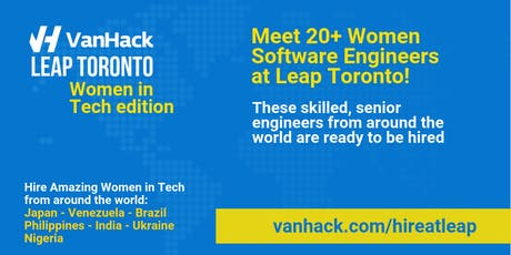 VanHack's Leap Toronto - Women in Tech edition - Opening Night tickets