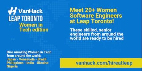 VanHack's Leap Toronto - Women in Tech edition - Opening Night tickets