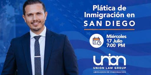 Plática de Inmigración en San Diego, CA - Miércoles 17 de Julio 7 PM