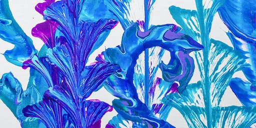Fluid Painting Flowers - Paint Sip & Create Party Art Class