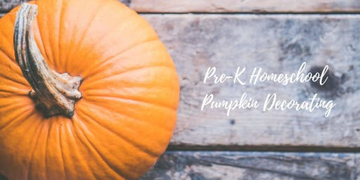 Homeschool Pre-K (ages 3-5) Pumpkin Decorating Party