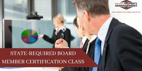 FREE STATE-REQUIRED BOARD MEMBER CERTIFICATION CLASS tickets