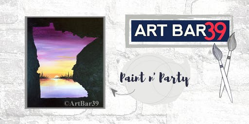 Paint & Sip | ART BAR 39 | Public Event | MN State Purple Landscape