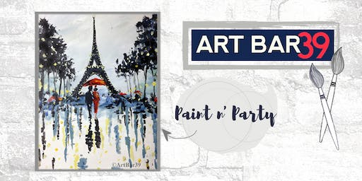 Paint & Sip | ART BAR 39 | Public Event | Paris at Night