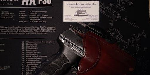 NC Concealed Carry Handgun Permit Class - New Bern, NC - Aug 2019