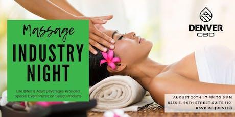 Massage Industry Night at Denver CBD Indianapolis tickets