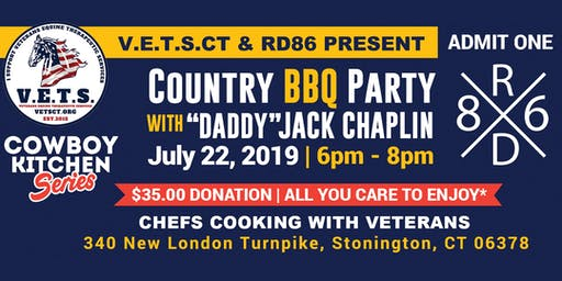 "V.E.T.S & RD86 Present ""Daddy"" Jack Chaplin's BBQ Party ""Chefs Cooking With Veterans"""