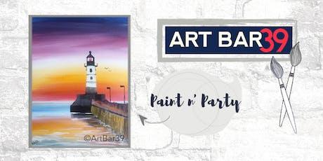 Paint & Sip | ART BAR 39 | Public Event | North Pier Lighthouse tickets