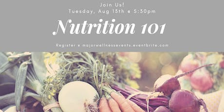 Nutrition 101 Class tickets