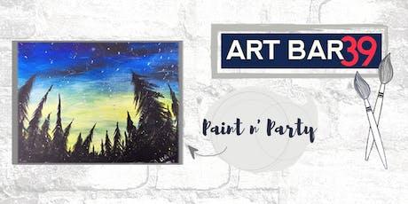 Paint & Sip | ART BAR 39 | Public Event | Northern Lights tickets