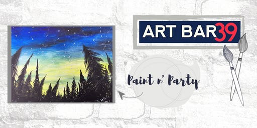 Paint & Sip | ART BAR 39 | Public Event | Northern Lights