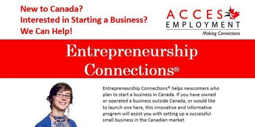 Entrepreneurship Connections Information Session - Moncton