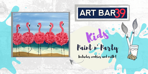 Kids Painting Party | Fancy Flamingos | Includes Cookies & Milk!