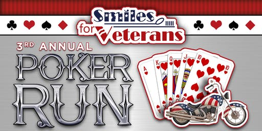 3rd Annual Smiles for Veterans Poker Run