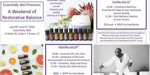 "Essentially Well presents ""Restorative Balance with Essential Oils"""
