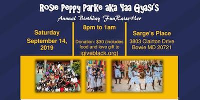 Ms. Peppy's Annual Birthday FunRaiseHer