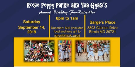 Ms. Peppy's Annual Birthday FunRaiseHer tickets
