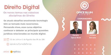 Direito Digital: os novos temas, nas clássicas disciplinas do Direito entradas