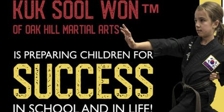 Introductory Month of Unlimited Martial Arts Classes for ages 5-6, 7-12, 13-adult  tickets