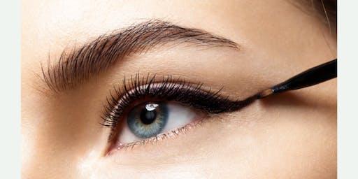 Eyeliner and False Eyelashes Class