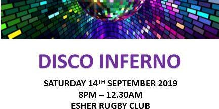 Disco Inferno 70s, 80s, 90s 14th Sept 2019