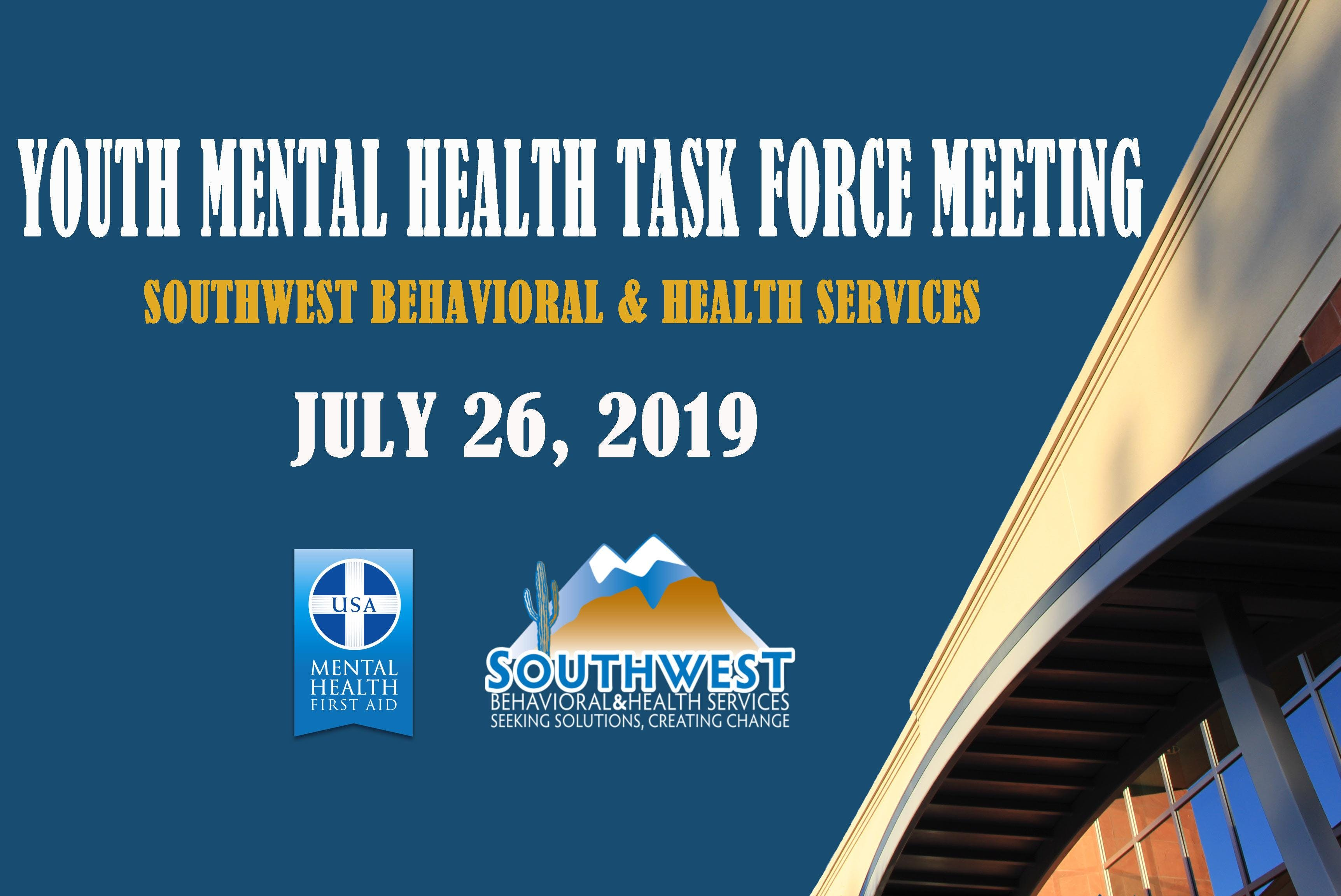 Youth Mental Health Task Force Meeting - July 26th