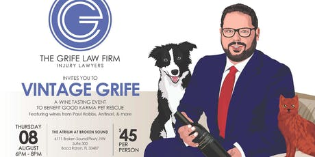 Vintage Grife - A Wine Tasting Event to Benefit Good Karma Animal Rescue tickets