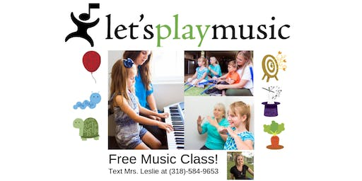 Let's Play Music Free Summer Class!