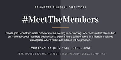 Meet the Members July 2019 Hosted by Bennetts Funeral Directors