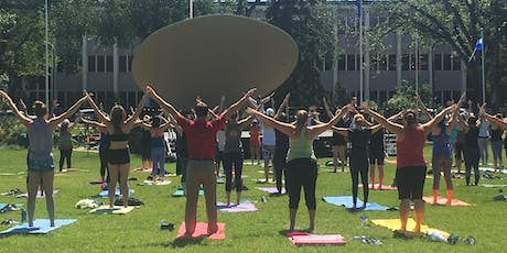 FREE YOGA WITH THE YOGA ASSOCIATION OF ALBERTA AT THE LEGISLATURE BANDSHELL tickets
