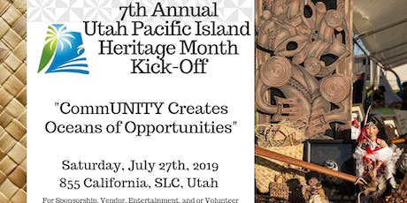 7th Annual Utah Pacific Island Heritage Month Kick Off Vendor 2019 tickets