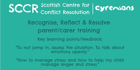 Conflict Training opportunity - SCCR tickets