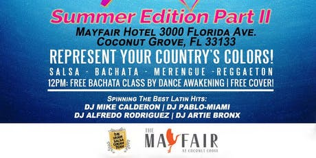 The Miami Latin Rooftop Pool Party: Rep your Country's colors! tickets