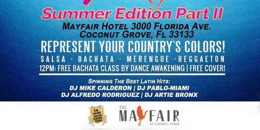 The Miami Latin Rooftop Pool Party: Rep your Country's colors!