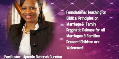 **DATE CHANGE**   SEPTEMBER 14, 2019 - MARRIAGE & FAMILY PROPHETIC WORKSHOP