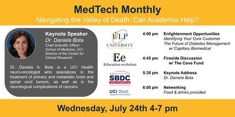MedTech Monthly - Navigating the Valley of Death: Can Academia Help? tickets