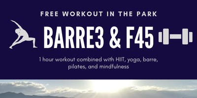 barre3 & F45 Training workout in the park series