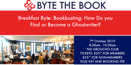 Breakfast Byte - Bookbusting: How Do You Find or Become a Ghostwriter? tickets