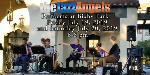Jazz Angels Performs a Free Jazz Concert in Bixby Park, Long Beach, CA