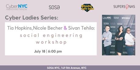 Cyber Ladies Series: Social Engineering Workshop tickets