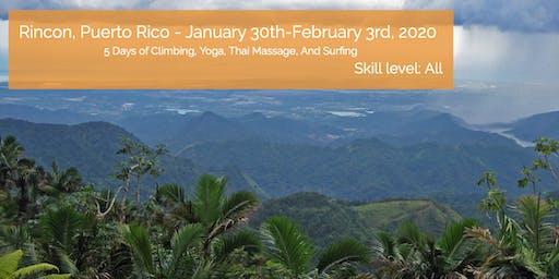 Adventure Retreat Puerto Rico ~ Climbing, Surfing, Yoga, Thai Massage
