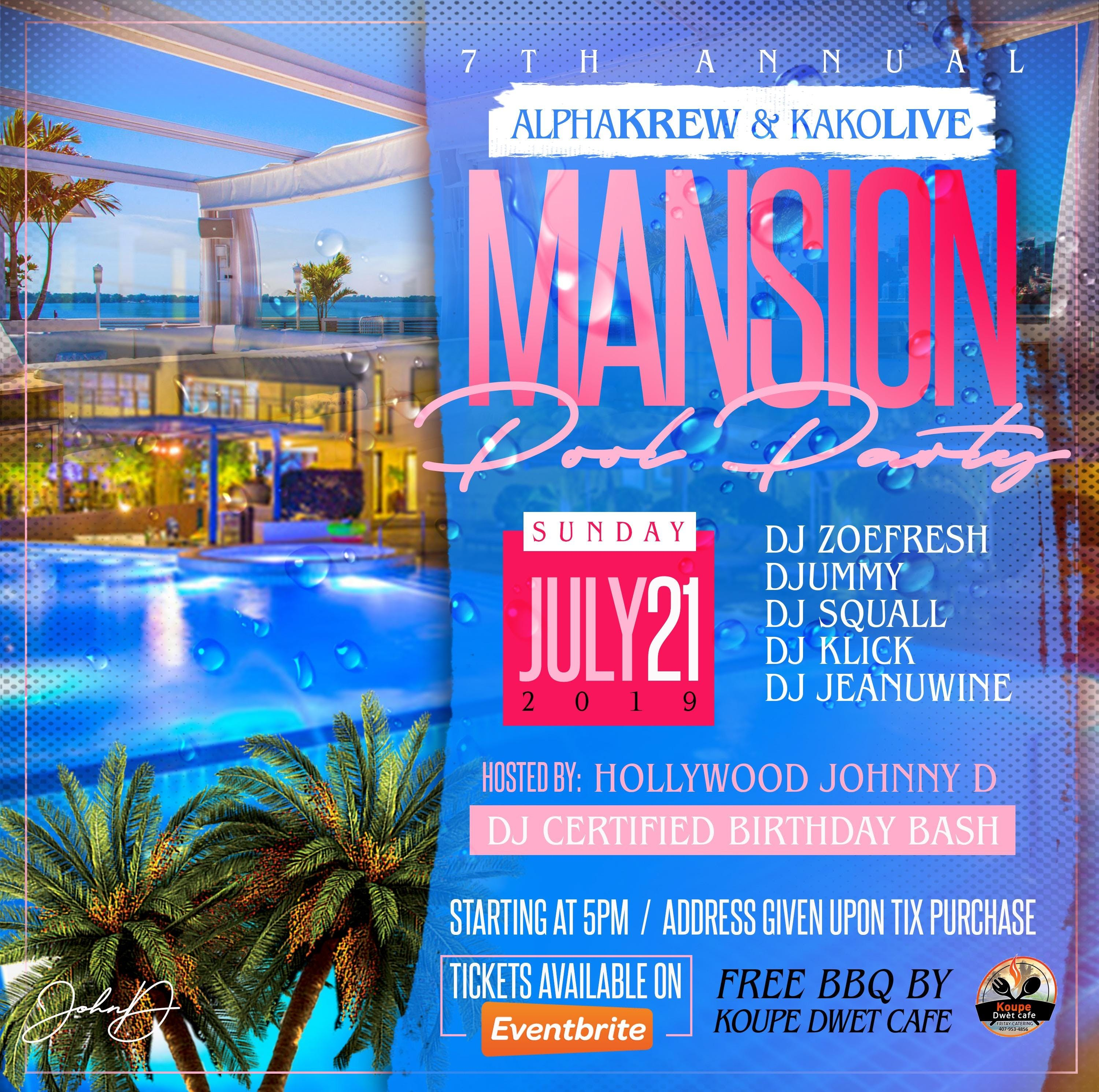 7th Annual | AlphaKrew | KAKOLive Pool Party | DJ Certified Bday Bash!
