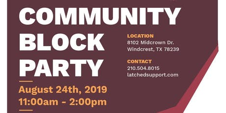 Latched Community Block Party tickets