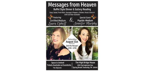 Messages from Heaven Dinner/Gallery Event ft. Certified Medium Laura Ophoff tickets