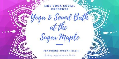 Yoga & Sound Bath at Sugar Maple tickets
