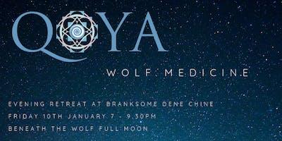 WOLF MEDICINE - Qoya and the Wolf Full Moon