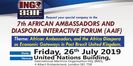 7th African Ambassadors Interactive Forum With the African Diaspora tickets