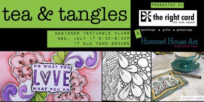 Tea & Tangles- Zentangle Beginner Class