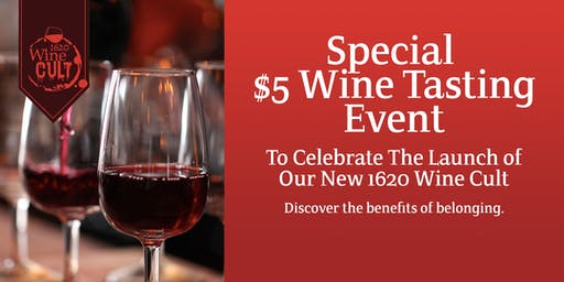 $5 Wine Tasting at the 1620 Winery at Cordage Park in Plymouth
