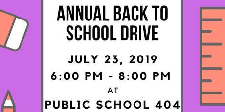 ILEA - Annual Back To School Drive  tickets